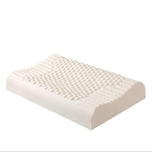 YEAY Almohada de látex Natural de diseño ergonómico - en Forma de Onda - Almohada de látex Ultra Transpirable - sueño Natural y Saludable - Alta Comodidad para el Alivio del Dolor de Cuello