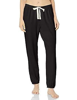 Amazon Essentials Women s Lightweight Lounge Terry Jogger Pajama Pant Black Medium