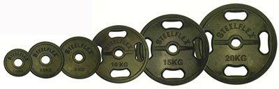 STEELFLEX 20kgラバーバーベルプレート 50mm孔径