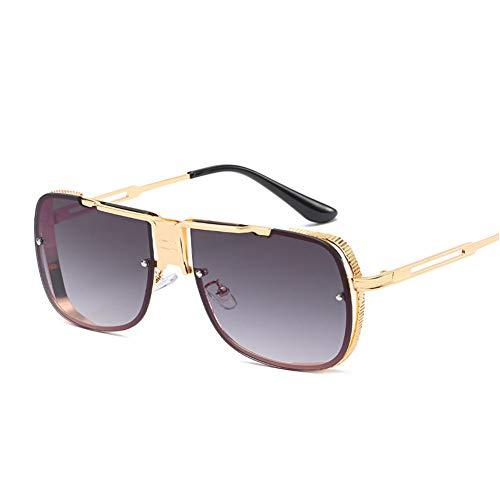Gafas De Sol For Mujeres De Gran Tamaño del Marco De La Protección UV400 De Moda Retro De Los Vidrios For El Recorrido De Conducción Riding (Color : C)