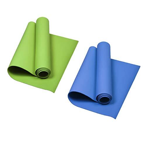 harayaa 2er / Pack Yoga Pilates Colchonetas Gym Mat Esterilla de Fitness Agradable para La Piel