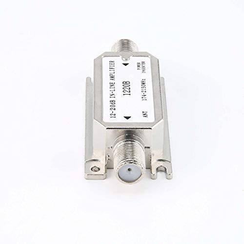 Anglebless Amplificador en línea de 12-20dB (Amplificador de línea de Pendiente satelital) (1220B) El Amplificador Funciona con Todos los satélites