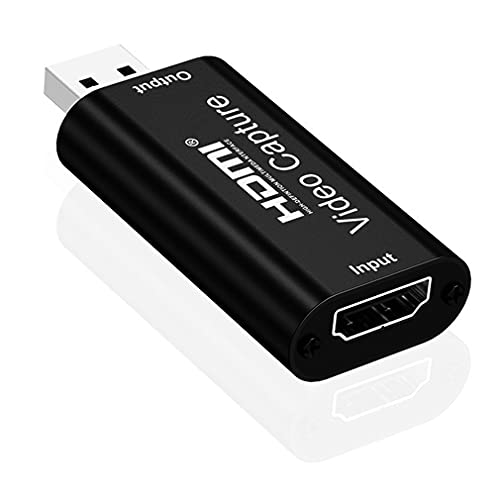 Tarjeta de captura de vídeo HDMI a USB 2.0 HD 1080p HDMI tarjeta de captura de vídeo PS4 para Digital y Edite Video, para OBS Grabación de HDMI, Juegos, Videocámaras, Ordenadores, Set-Top Box/PS4