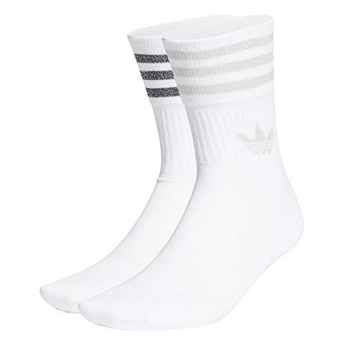 adidas GN3070 MID CUT GLT SCK Socks womens white/pink tint XL