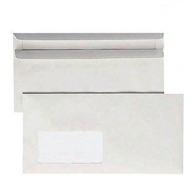 1.000 BONG Recycling Briefumschläge / mit Fenster / DIN lang / selbstklebend / grau