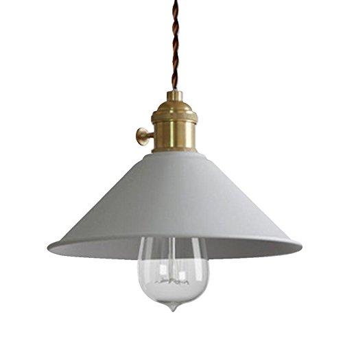 RUNNUP Lámpara de iluminación de techo vintage Lámpara de techo colgante Metal blanco para la sala de estar del loft de la casa Bar Restaurantes Cafetería Decoración del club