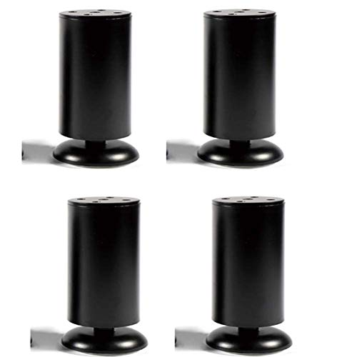 MLTYQ Möbelbeine, verstellbare Möbelbeine Edelstahlmöbel Couchtischbein Tischständer (eine Packung Backofen), schwarz, 30 cm