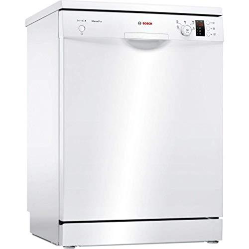 Bosch Serie 2 SMS25AW05E lavavajilla Independiente 12 cubiertos A++ - Lavavajillas (Independiente, Tamaño completo (60 cm), Blanco, Blanco, Botones, Giratorio, 1,75 m)