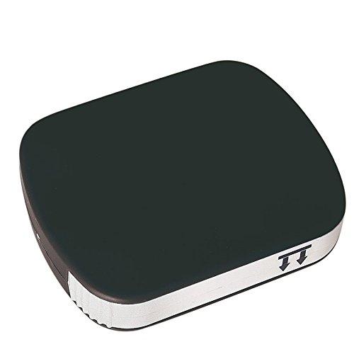 Scatola porta pillole tascabile, per farmaci in compresse, pratico contenitore da viaggio Black