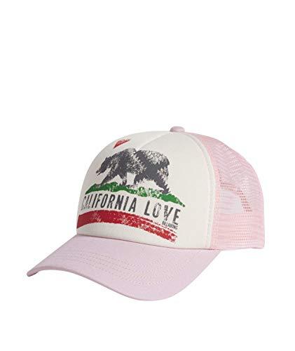 Billabong Kids Women's Big Girls' California Love Pitstop Mesh Back Adjustable Trucker Hat, Rose Dawn, One