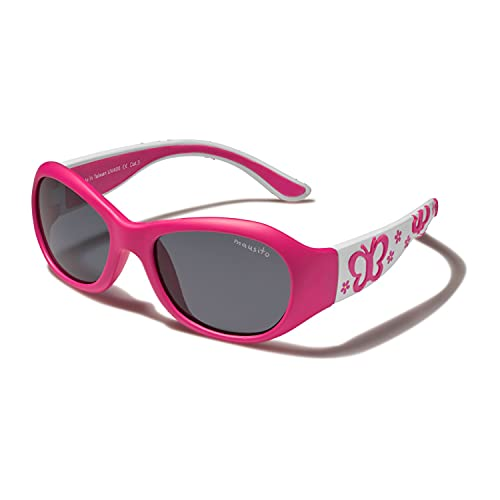 Mausito® Sonnenbrille Kinder Mädchen 2-4 Jahre I Flexible Kindersonnenbrille I 100% UV SCHUTZ Kleinkind Sonnenbrille I Cool Kids sunglasses I Rosa & Lila I Geschenke Mädchen I Fahrradbrille