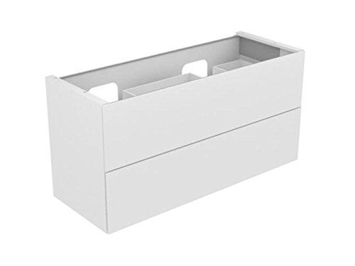 Keuco EDITION 11 Planning - Base para lavabo (1400 x 350 x 535 mm, corte para sifón para lavabo doble, color antracita (RAL 7015)