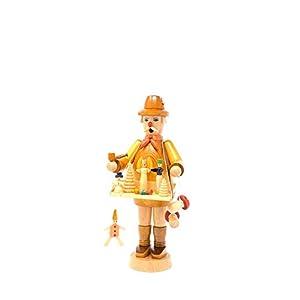 Drechslerei Friedbert Uhlig 017/g - Figura decorativa (25 cm de alto, madera regional, torneada, hecha a mano de los Montes Metálicos, Navidad, arte de madera, madera auténtica), color marrón