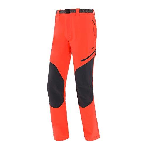 Trangoworld pc008100 – 6za-m Pantalon Long, Homme, Orange Intense/Gris (Ombre Foncé), M
