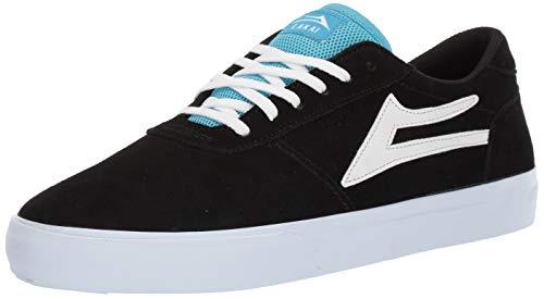 Lakai Limited Footwear Mens Herren Manchester, Schwarze Velourslederoptik, 37.5 EU