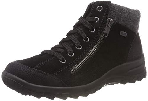 Rieker Dames L7132 enkellaarsjes, zwart, zwart, antraciet 01, 41 EU