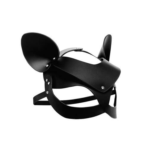 Master Series - Bad Kitten - Zwart Leren Masker