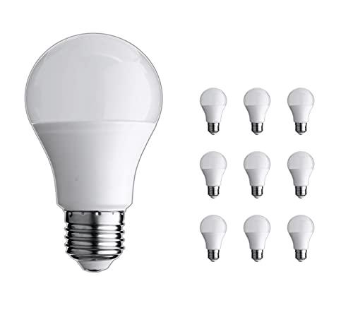 Jandei - 10 x Bombilla Led E27 A60 de 10W equivalente a 80W, Blanco Frio 6000K 330º de apertura para lámparas de techo, sistemas de alumbrado, apliques decorativos, lámparas de mesilla