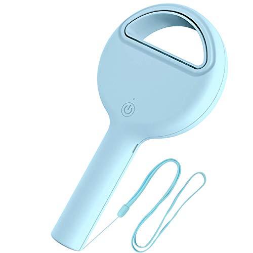 Portable Fan Bladeless Handheld Fan USB Rechargeable Personal Fan Battery Operated Mini Fan for Kids Girls Women Men Travel Blue