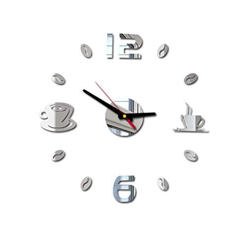 Printasaurus Acrylic Clock 3D DIY Roman Numbers Acrylic Mirror Wall Sticker Clock Home Decor Mural Decals Home & Garden Clock