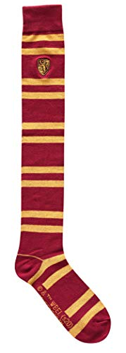 Harry Potter Gryffindor Striped Juniors/Ladies Over the Knee Socks with Embroidered Crest