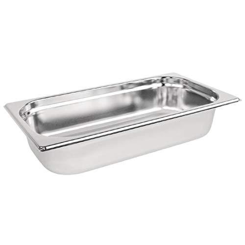 Vogue roestvrijstalen gastronorm 1/3 container 2,5/65 mm diep voedsel container