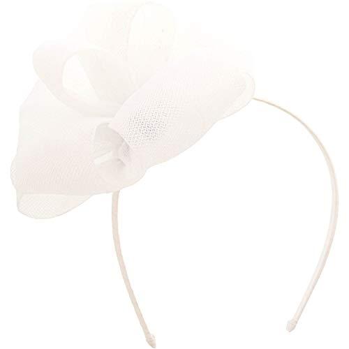 Janie And Jack White Organza Bow Headband Hair Accessory - One Size