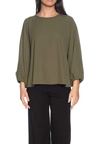Please Bluse mit Langen Ärmeln, für Damen, Militärgrün Grün militär-grün X-Small