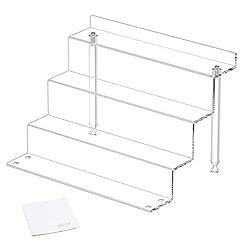 cheap NIUBEE Transparent Vertical Acrylic Lifting Shelf for Amiibo Funko Pop Figure Display, Step Display…