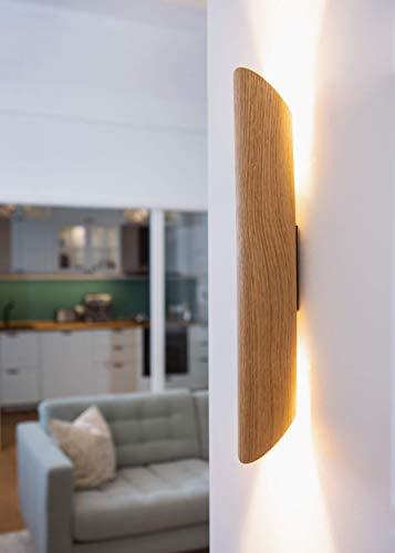 Elobra Colombia - Lámpara de pared (madera de roble,