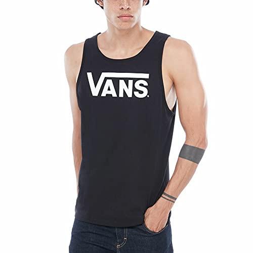 Vans Classic Tank T-shirt, Nero (Black-white Y28), Medium Uomo