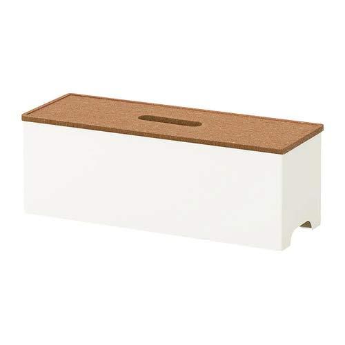 KVISSLE ケーブルマネジメントボックス コルク ホワイト 40203958 イケア IKEA