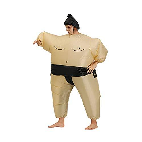 GXZOCK Disfraz hinchable para Halloween de Sumo Blow Up, disfraz de cosplay, disfraz hinchable de lucha (adultos)