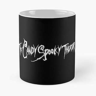 The Candy Spooky Theater Jack Peggy Kal C Handcrafted Novelty 110z Gift Coffee Mugs
