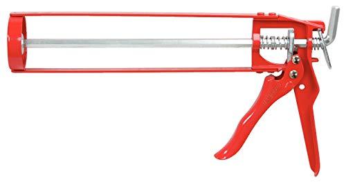 """KS Tools 980.1055 KS - Pistola de silicona simple (para cartuchos de 310 ml, 9"""")"""