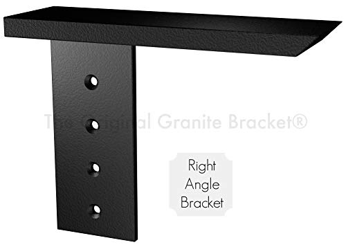 Solid Heavy Duty Steel Side Wall Hidden Countertop Support Floating Shelf Bracket, 20 inch, Right, 1 Count, DIY Projects, Made with American Steel, Hardware Included by Original Granite Bracket
