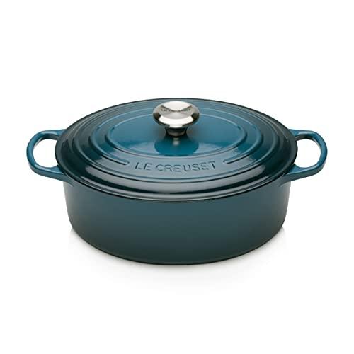 Le Creuset Enameled Cast Iron Signature Oval Dutch Oven, 5 qt. , Deep Teal