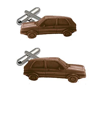 Manschettenknöpfe im klassischen Design Golf GTI MK2 ref300 Kupfer-Effekt