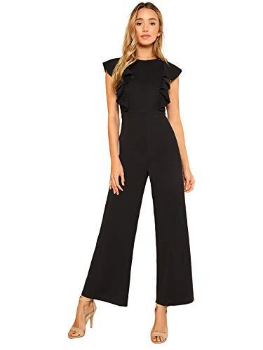 baratos y buenos SOLYHUX Mono largo para mujer Mono de verano O Otoño Casual Bolso de hombro de cintura alta incluido … calidad