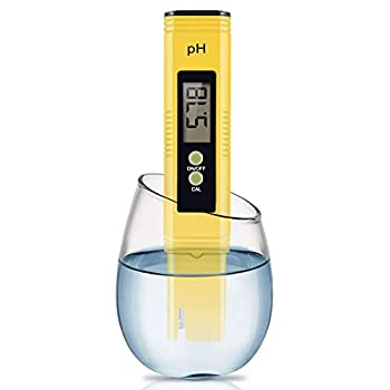Digital PH Meter PH Meter 0.01 PH High Accuracy Water Quality Tester with 0-14 PH Measurement Range for Household Drinking Pool and Aquarium Water PH Tester Design with ATC