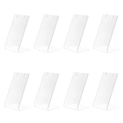PandaHall 10 piezas de un solo par de pendientes sostenedores de joyería en forma de L soportes de marketing de acrílico para joyería colgante inclinada pantalla trasera 1.3 x 1.7 x 3 pulgadas