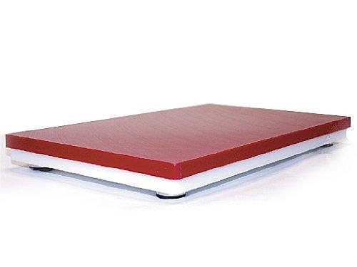 Prof Board - Tagliere da cucina, 40 x 60 cm, colore: Rosso