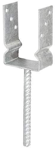 GAH-Alberts 208523 U-Pfostenträger | zum Aufschrauben oder zum Einbetonieren | feuerverzinkt | lichte Breite 91 mm