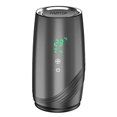 FAMTOP Portable Air Purifier for Home with True HEPA Filters, Desktop USB Air Cleaner, Quiet Office Air Purifiers, Air Ionizer Freshener for Odors, Cigarette Smoke, Allergies, Bacteria, Dust