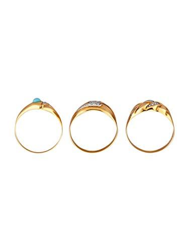 KLiNGEL 3tlg. Ring-Set Gelbgoldfarben