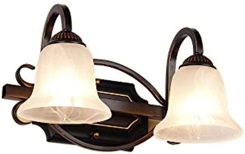 OKBOBLDS Amerikanische Spiegelscheinwerfer Badezimmer Badezimmer Spiegelschrank Lampe führte europischen Spiegel Lampe Schminktisch Spiegel Lampe 2 Light JQ640035cm