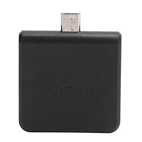 Lector de Tarjetas RFID Teléfono móvil OTG Lector de Tarjetas portátil USB Interfaz Micro USB UHF RFID Escritor de Mano(Negro)
