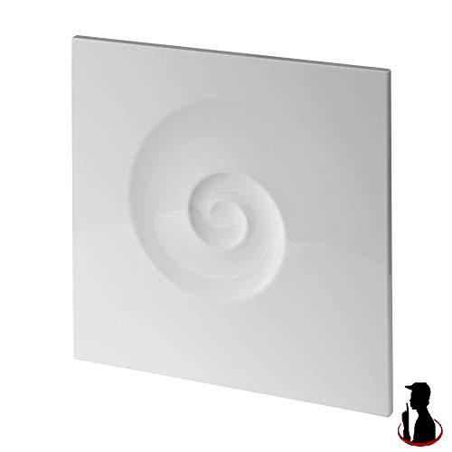 MKK Ventilateur de salle de bain - Diamètre : 100 mm - Roulements à billes - Silencieux - 4,4 W - Standard - Sans clapet anti-retour