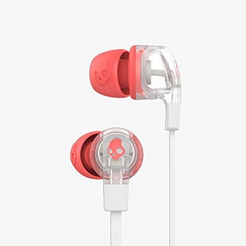 Skullcandy Smokin' Buds 2 Dime Women's In-Ear Kopfhörer für Damen mit In-Line Mikrofon - Mash-Up/Transparent/Koralle