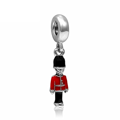 Authentic EvesCity Many Styles to Choose from - Charms Beads Pendents Beads Gifts (Fits Pandora, Troll, Baigi, Chamilia, Zable, & Similar Bracelets Necklaces) (European London Royal Guard Europe)